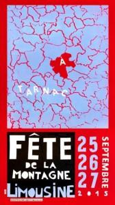Affiche de la fête de la Montagne Limousine, Tarnac 2015